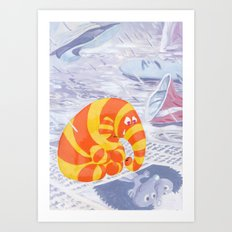 Lonely Elephant Art Print