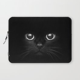 Black Cat Face Laptop Sleeve