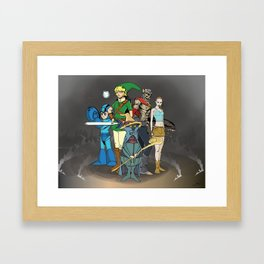gaming hero mash-up Framed Art Print