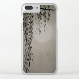 Willow in the moonlight Clear iPhone Case