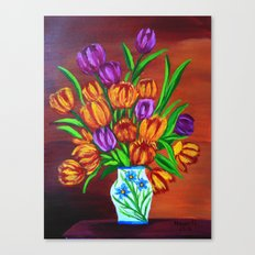 Valentine's bouquet Canvas Print