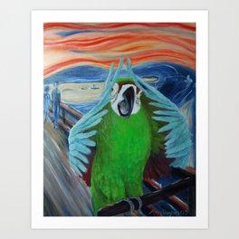 Parrot Scream Art Print