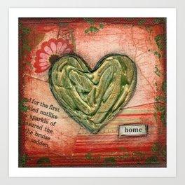 I heart home Art Print