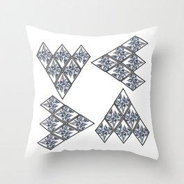 Geometric Glacier Throw Pillow