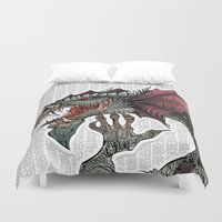 dragon Duvet Covers featuring dragon by Erdogan Ulker