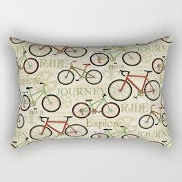 Bicycle Journey Rectangular Pillow