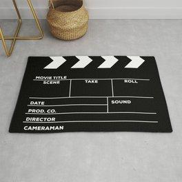Movies Director Filmmaker Movie Slate Film Slate Clapperboard Black White Rug