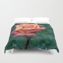 Rainy rose Duvet Cover