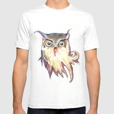 Hibou Mens Fitted Tee White MEDIUM