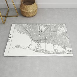 Miami White Map Rug