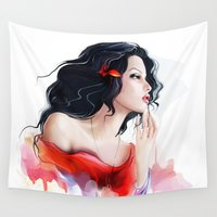 gypsy Wall Tapestries featuring Gypsy by tatiana-teni