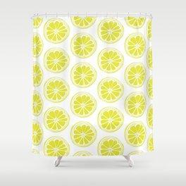 Sliced Lemon Shower Curtain