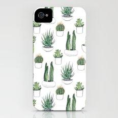 watercolour cacti and succulent Slim Case iPhone (4, 4s)