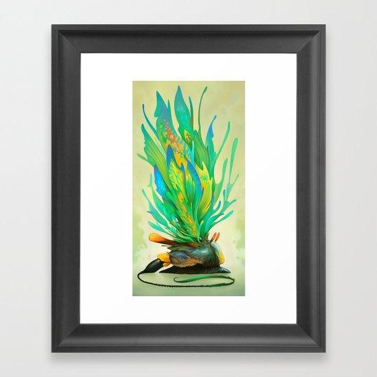 Feathered Tethridon Framed Art Print