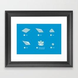 Step-by-step Origami Framed Art Print