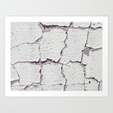 The cracks are appearing Art Print
