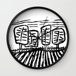Plowed Field Wall Clock