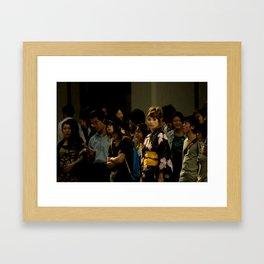 Japanese Girl Framed Art Print