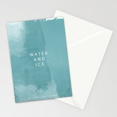 water and ice Stationery Cards
