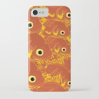 goldfish iPhone & iPod Cases featuring Goldfish by Monty