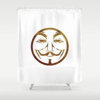 anonymous Shower Curtains featuring Anonymous by Spooky Dooky