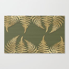 Gold Ferns & Willow Canvas Print