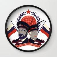 pacific rim Wall Clocks featuring Pacific Rim: Brave Kaidanovskys by MNM Studios