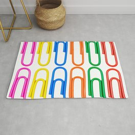 pattern of decorative colored clips Rug
