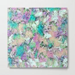 Aqua Pink Mix Confetti Metal Print