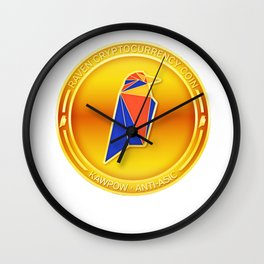 Ravencoin Cryptocurrency Design Wall Clock