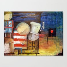 Waiting For The Voice Of The Heart Canvas Print