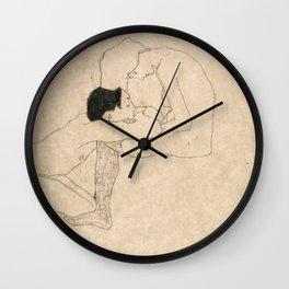 """Egon Schiele """"Lovers"""" Wall Clock"""