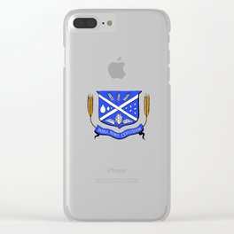 Give Us Beer College Emblem with Latin Script Clear iPhone Case