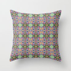 Acid Rain Detail Pixel Throw Pillow