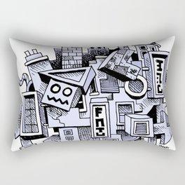 Jumbled City full of assorted junnk Rectangular Pillow