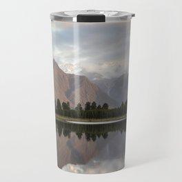 New Zealand Lake at sunset Travel Mug