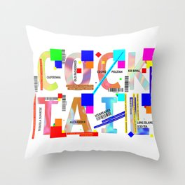 Cocktail - C O C K T A I L Throw Pillow