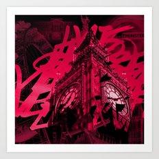 Londres à la nuit Art Print