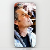 tarantino iPhone & iPod Skins featuring Kurt Russell as Stuntman Mike McKay in the film Death Proof (Quentin Tarantino - 2007) by Gabriel T Toro
