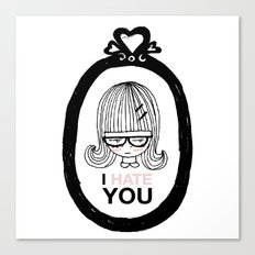 I Hate You / Picture Canvas Print