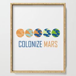 Colonize Mars Art Serving Tray