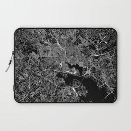 Baltimore Black Map Laptop Sleeve