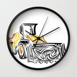Loader equipment Wall Clock