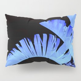 Neon Glow Tropical Palm Fronds Pillow Sham