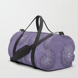 Vintage Lavender Watercolor Mandala Duffle Bag