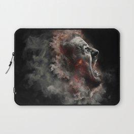 Burning face of man art Laptop Sleeve