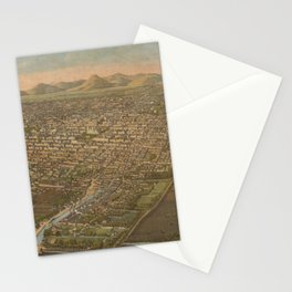 Vintage Pictorial Map of Mexico City (1906) Stationery Cards