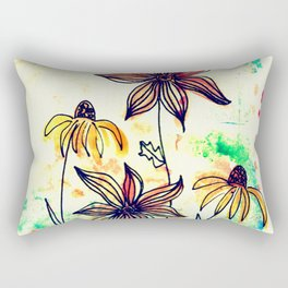 bohemian wild flowers Rectangular Pillow