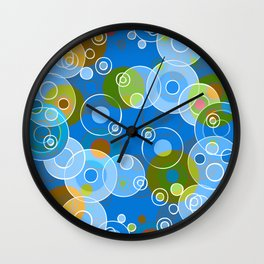 Blue Bubbles Wall Clock