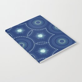Dark Blue Winter Notebook